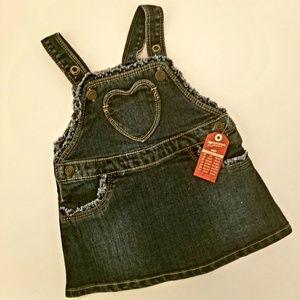 🆕Arizona Jeans Baby Girls Overalls Jumper Dress
